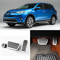 Brand New 3pcs Aluminium Non Slip Foot Rest Fuel Gas Brake Pedal Cover For Toyota RAV4 AT 2015-2016