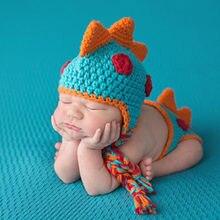 3799209ea0 Protezione del bambino Maglia Del Bambino Del Cappello Del Ragazzo  Dinosauro Vestito Nuovo Nato Fotografia oggetti di Scena Fatt.