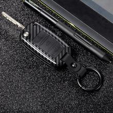 2019 ABS PC Carbon Fiber Silica Gel Key Case Full-encircling for VW New Passat Lavida Tiguan POLO Bora Material Durability
