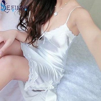 Women Silk Lace Nightgowns