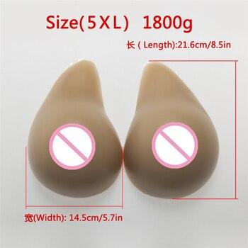 Brown Fake Boobs 1800g/Pair Female Breast Drag Queen Breast Prosthesis Shemale Transvestite Crossdresser Silicone Breast