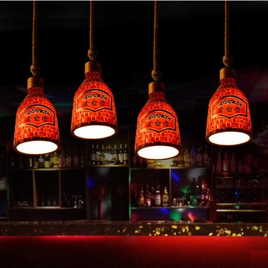 Retro Loft Style Creative Resin Droplight LED Vintage Pendant Light Fixtures Dining Room Hanging Lamp Indoor Lighting Lamparas retro loft style rope bamboo droplight creative iron vintage pendant light fixtures dining room led hanging lamp home lighting