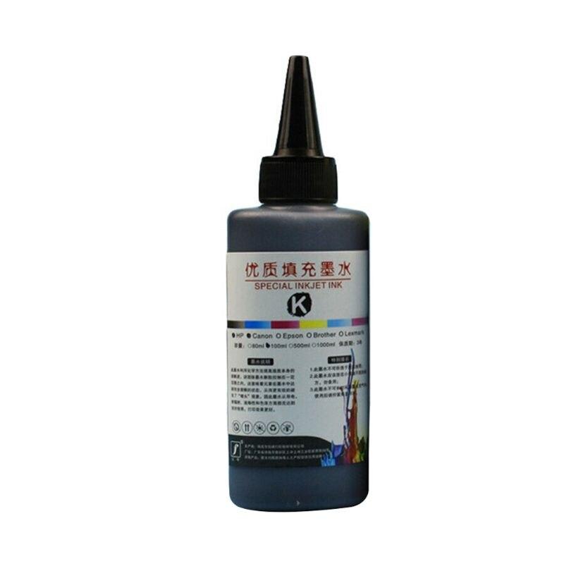 100 мл набор чернил для заправки, универсальный принтер для печати, настольный принтер для Canon PG-245 CL-246 PIXMA MG2420 MG2520 MG2920 MG2922 - Цвет: Black
