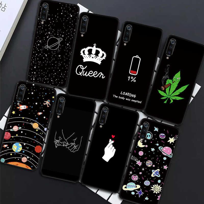 黒マット電話ケースシャオ mi mi 9 SE mi 8 A2 Lite A1 ソフトシリコーン赤 mi 7 注 7 5 6 プロクールスペースハートケース