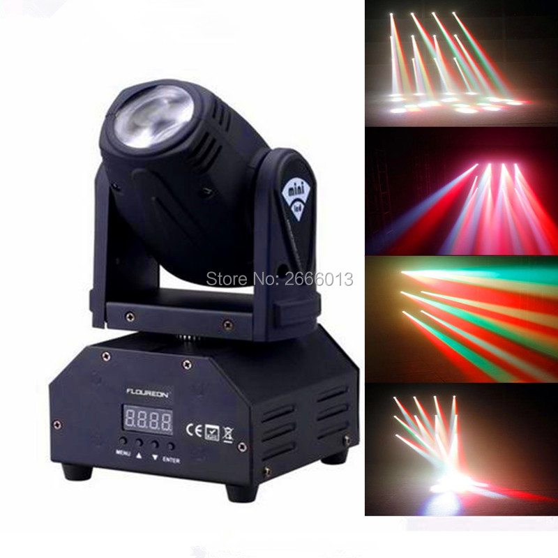 10W RGBW mini led beam moving head light /disco dj stage lighting/DMX512 mini 10W led linear beam chandelier/10W wash beam lamps high quality mini 10w led spot moving head 7 gobo stage light disco dj dmx512 rgbw stage effect projector stereotypes packaged