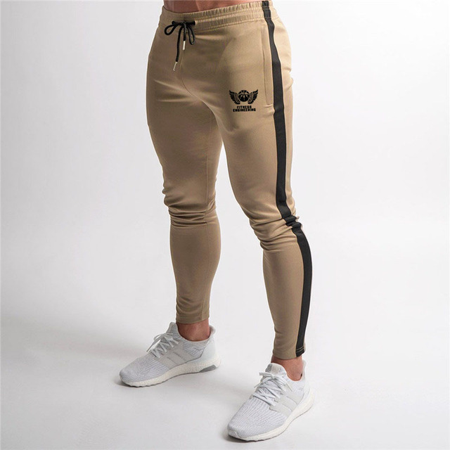Zip Pocket High Quality Jogger Pants Men Fitness Bodybuilding Pants Pantalones Hombre  Sweatpants Trousers Men 4