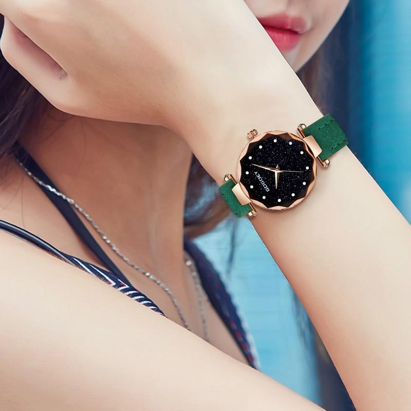 relojes mujer 18 Luxury Brand Gogoey Women Watches Personality romantic starry sky Wrist Watch Rhinestone Design Ladies Clock 32