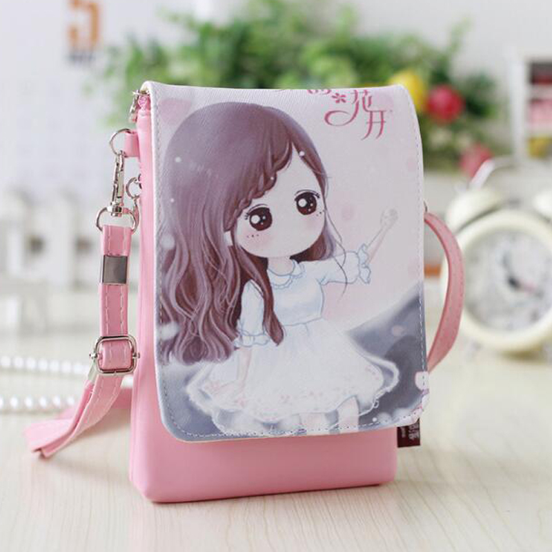 Women Kids Mini Messenger Bags PU Leather Handbags Small Cartoon Printed Girls Bag Crossbody Bag for Baby Girl Shoulder Bag  women brand 2017 cactus shoulder bags girls cute novelty funny bag leather handbags mini crossbody bags design clutch messenger