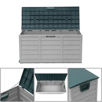 Porch Outdoor Patio Deck Box Large Weather Resistant Storage Box Cabinet Shed Bin Container Organizer Garden Home Furniture