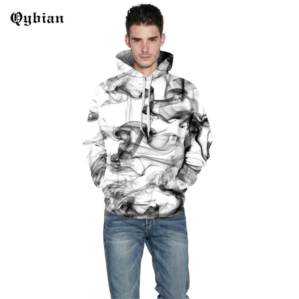 Qybian Einfache Kapuze Sweatshirt Männer Frauen 2017 Lustige smoke Gedruckt Mens Hoodies Harajuku Hoodie Männer Hoody Sweatshirts