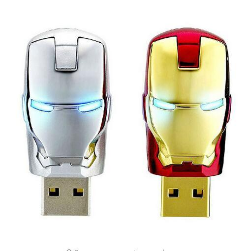 Hot sale Iron man flash drive 128gb 256gb 512gb 64gb usb flash drive Real capacity pendrive Memory Stick USB u disk gift OTG