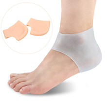 1 paire de manches de Gel de guérison coussinets de coussin de soulagement de douleur de talon et de cheville de pied de Silicone