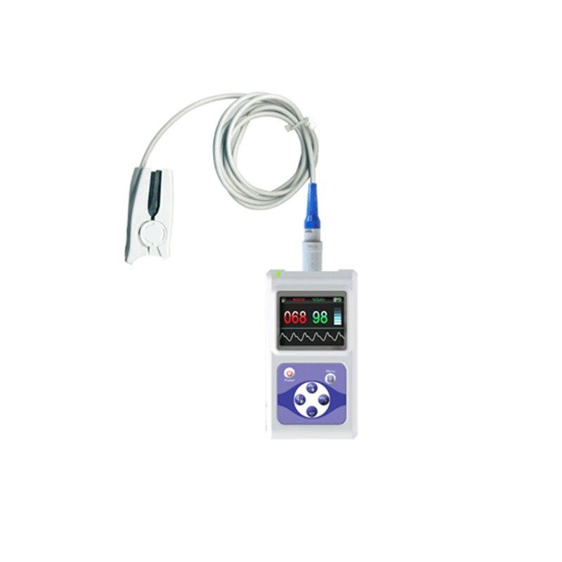 Fingertip Pulse Oximeter SPO2 Pulse Rate Oxygen Monitor OLED Display  Data Storage External Oximeter Probe AH-60D Veterinary sportguard fingertip pulse oximeter spo2 heart rate monitor orange