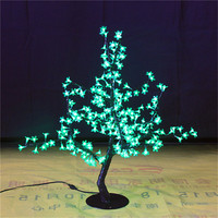 Free ship LED Artificial Cherry Blossom Tree Home Wedding Christmas Decoration 200 LEDs 31.5=80cm 7 Colors option waterproof