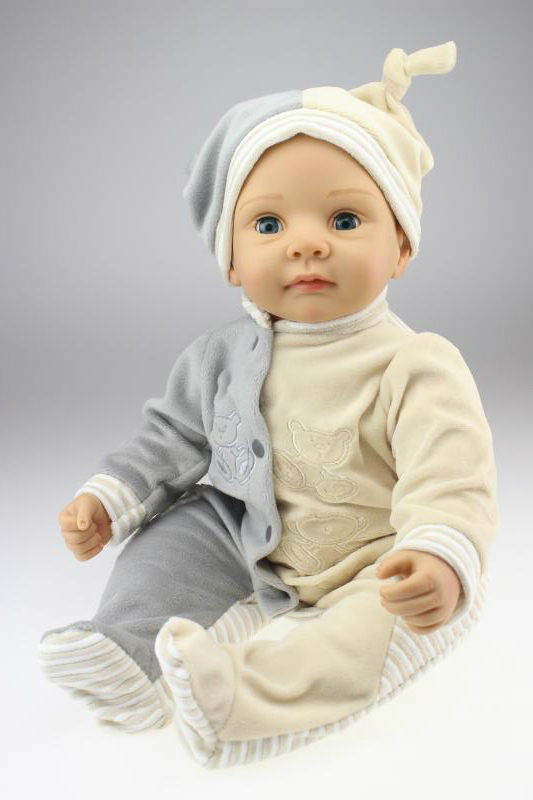 Silicone reborn baby boy doll toys for girl, lifelike handmade baby about 55cm babies toy kids birthday gift girl brinquedods about a boy