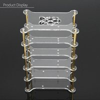 New Arrival 1PC Transparent Acrylic Cluster Case 5 Layer For Raspberry Pi 3 2 B And