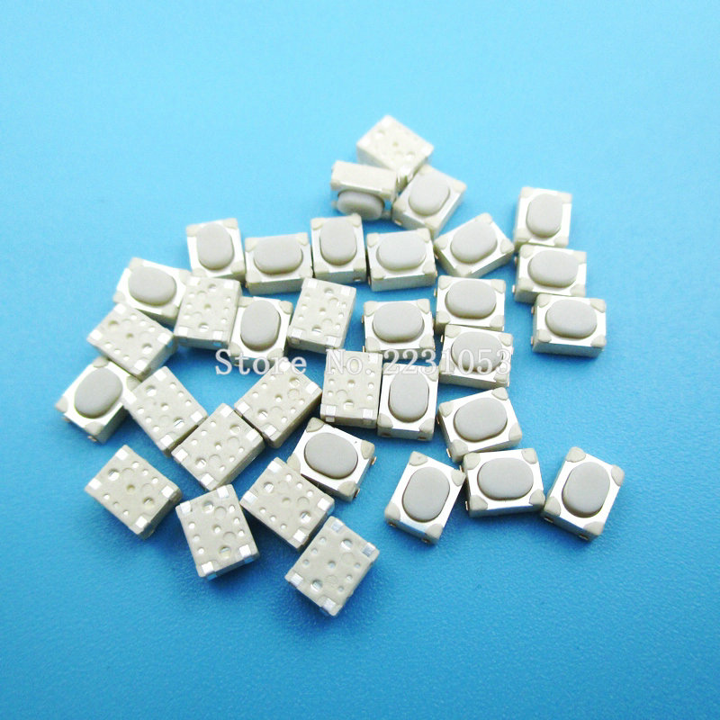 100PCS/LOT 3*4*2.5mm SMD Tact Switch 4 Pin Touch Micro Switch Push Button Switches 3x4x2.5H White Button Car Remote Key Button B смеситель для кухни smartsant смарт реал цвет хром sm033501aa