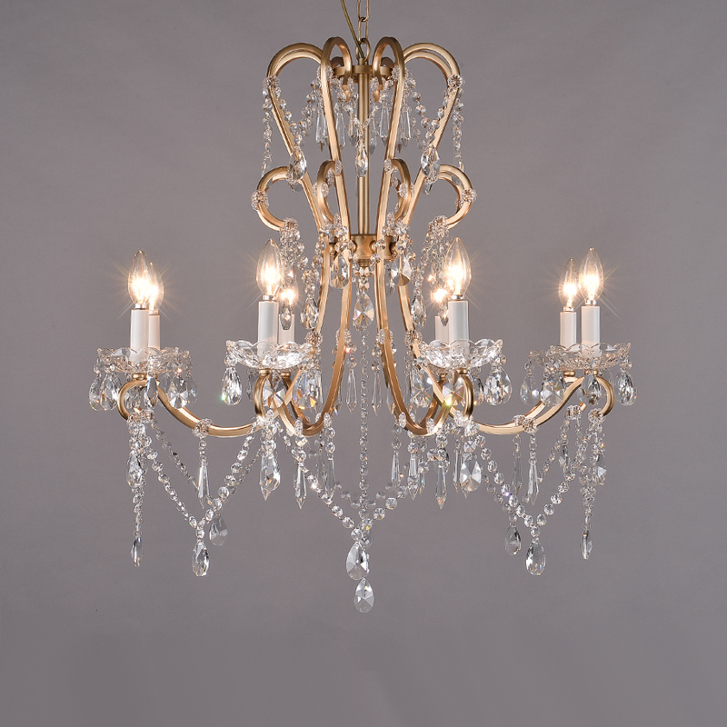 French European style palace iron crystal pendant light lamp dining room bedroom real princess hanging lightingFrench European style palace iron crystal pendant light lamp dining room bedroom real princess hanging lighting