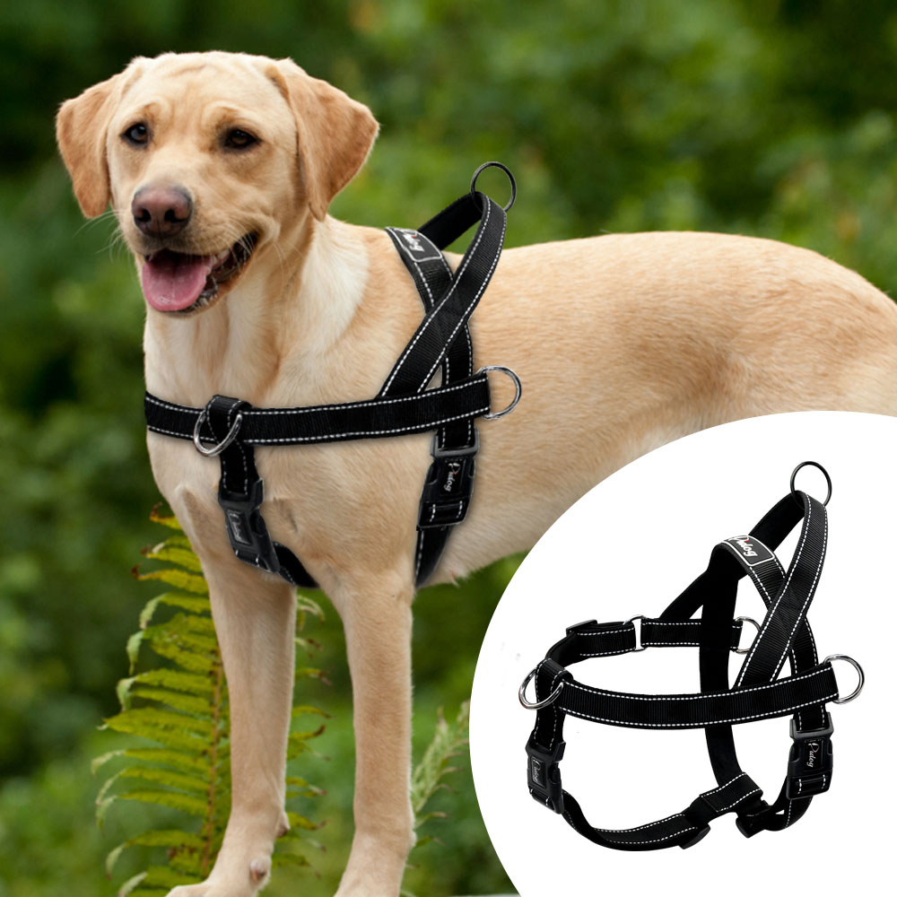 nylon reflective no pull large dog harness quick fit pet harnesses vest adjustable for large. Black Bedroom Furniture Sets. Home Design Ideas