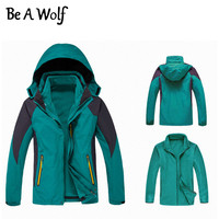 Be A Wolf Hiking Jacket Men Women Winter Heated Outdoor Camping Skiing Hunting Clothes Fishing Waterproof
