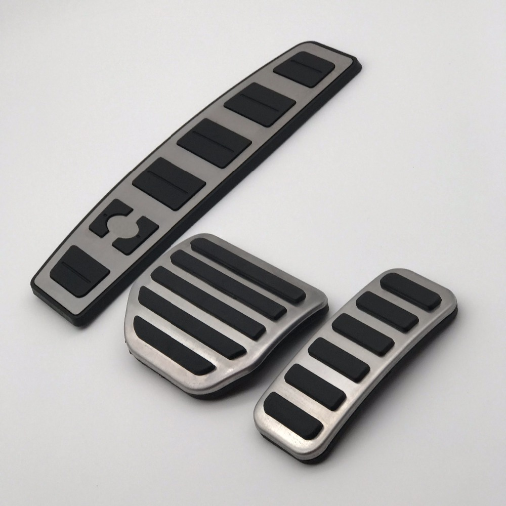 3PC Alloy foot Pedal Kit for Land Rover Discovery 3,4,LR3,LR4 covers accessories