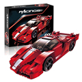 Lepin 21009 Technic Print FXX 1:17 building bricks Toys for children Game Model Car Gift Compatible with Decool Bela 8156
