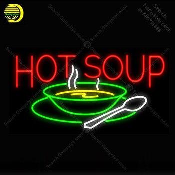 Soupe chaude néon lumière signe néon enseigne lampe décorer hôtel fenêtres verre Tube bière PUB magasin affichage artisanat emblématique signe lumières