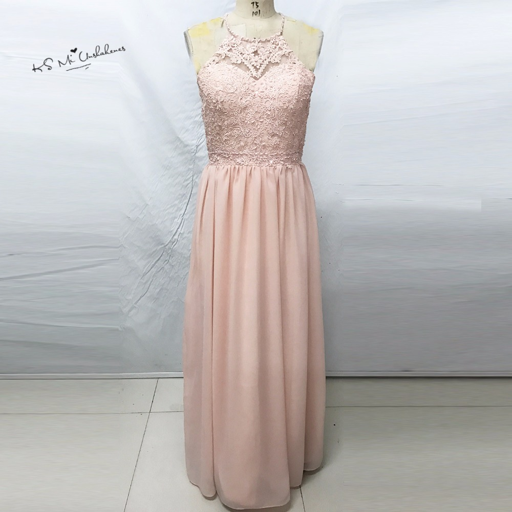Robe demoiselle dhonneur blush pink bridesmaid dresses long lace robe demoiselle dhonneur blush pink bridesmaid dresses long lace prom dress cheap criss cross floor length wedding party gowns in bridesmaid dresses from ombrellifo Images