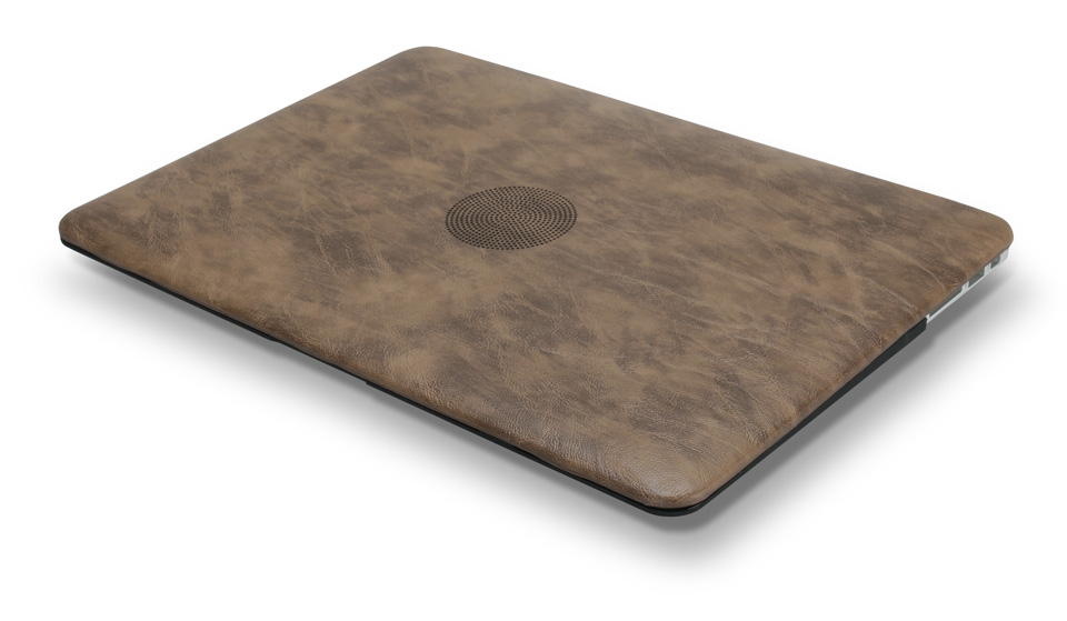 PU leather Hard Case for MacBook 17