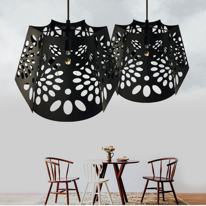 Retro Iron Black E27 LED Pendant Lamp for Bedroom Living Room Dining Cafe Learning Reading Aisle Hanging Lamp Lighting FixturesRetro Iron Black E27 LED Pendant Lamp for Bedroom Living Room Dining Cafe Learning Reading Aisle Hanging Lamp Lighting Fixtures