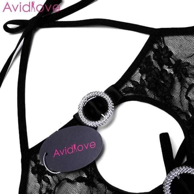 Avidlove Women Bodystocking Erotic Hot Body Suit Teddy Sexy Lingerie Sleepwear Lace Babydoll Bodysuit mujer lenceria femenina 5