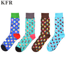 Happy Socks Classic hot air balloo Funny Mens Cotton Skateboard Hip Hop Street Crew Harajuku Art Fashion Short