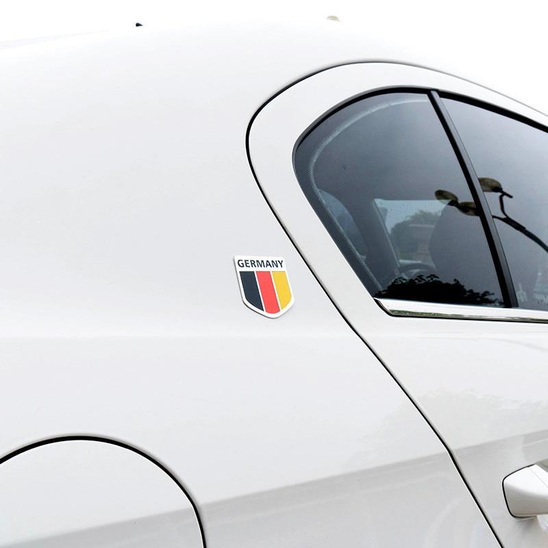 3D Metal Germany Flag Badge Emblem Car Front Grille Side Body Rear Sticker Decal