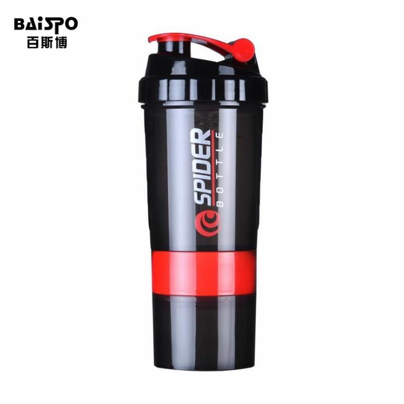 BAISPO Creative Protein Powder Shake Bottle Mixing Bottle Sports Fitness Kettle Protein Shaker Sports Water Bottle