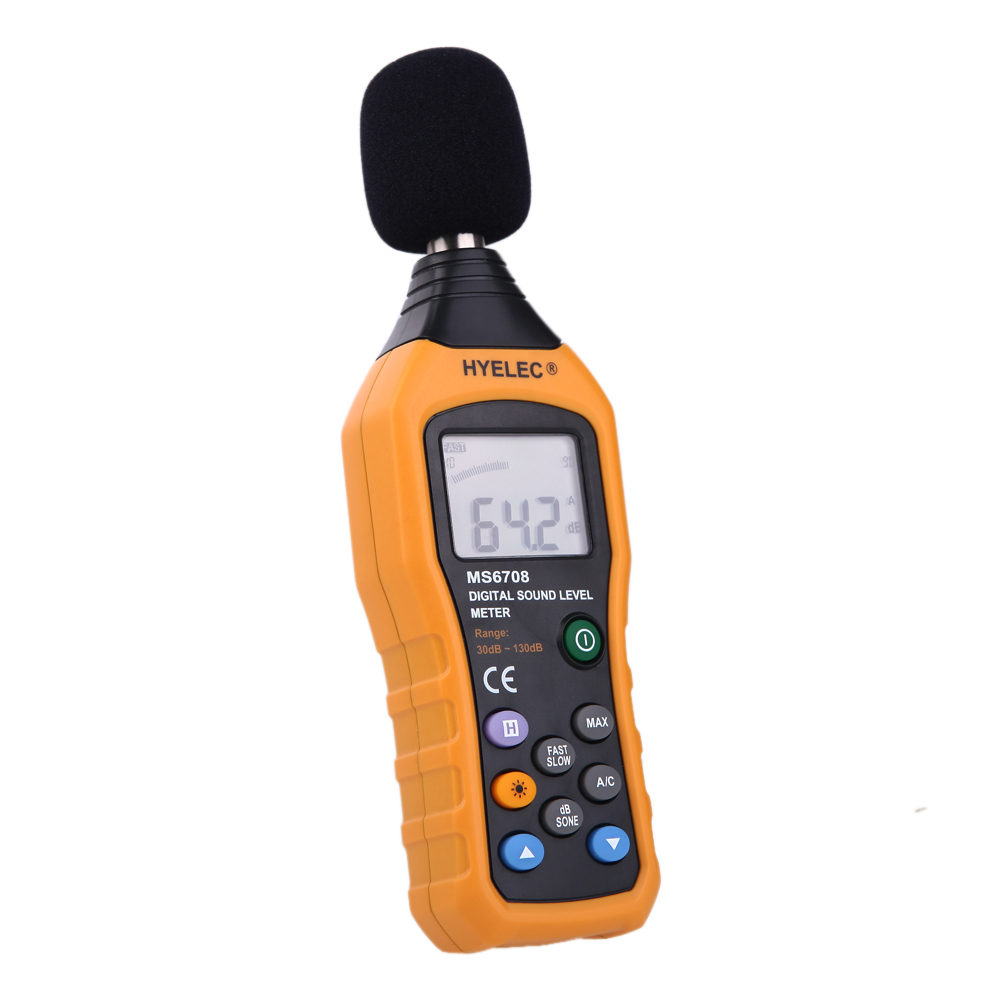 LCD Digital Audio Decibel Sound Noise Level Meter Monitor dB Meter Measuring 30 dB To 130 dB Logger Tester db 07