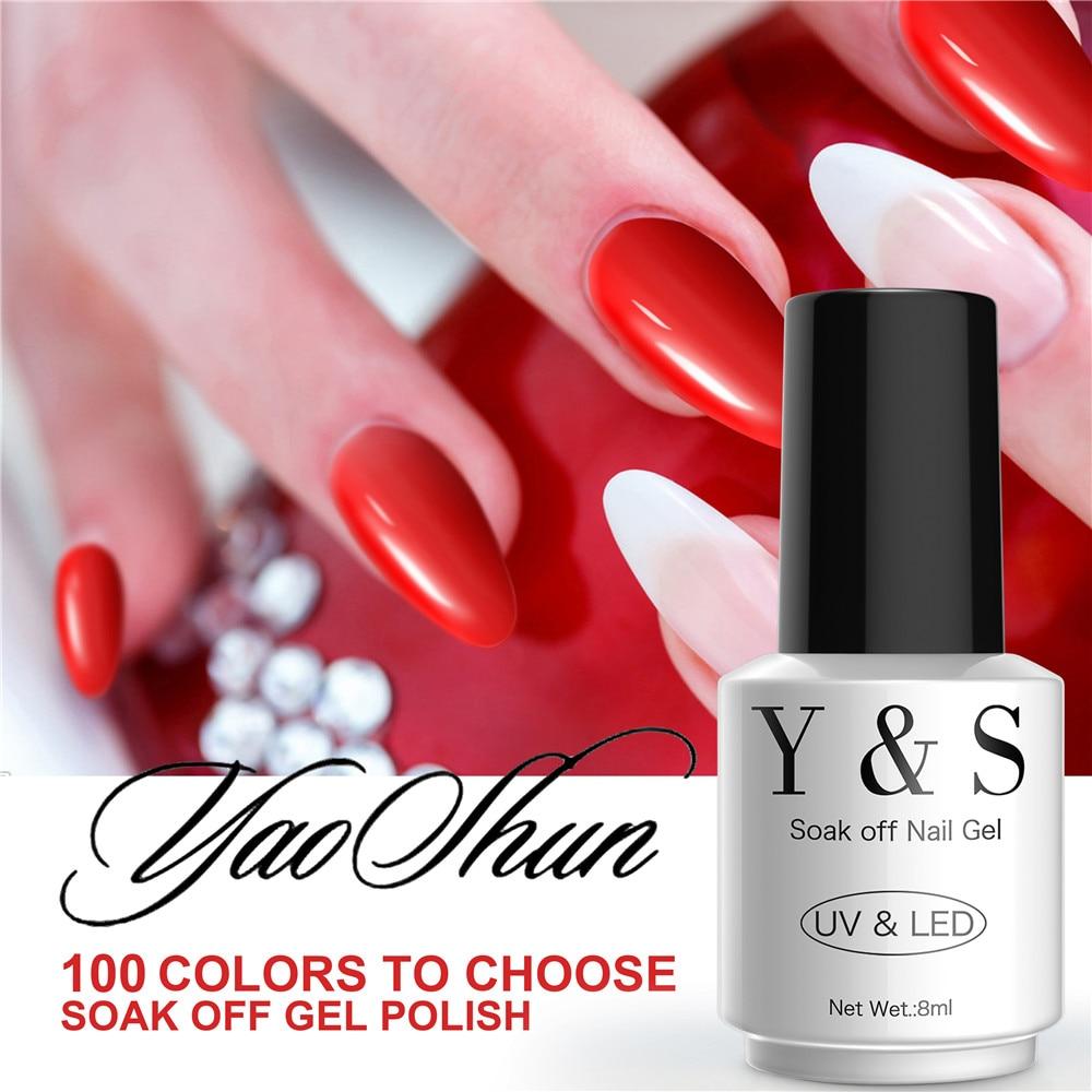 YAOSHUN UV Soak Off Gel Nail Polish Perfect 8ml DIY Nail Art Gel Varnish Long Lasting Led Gel Polish