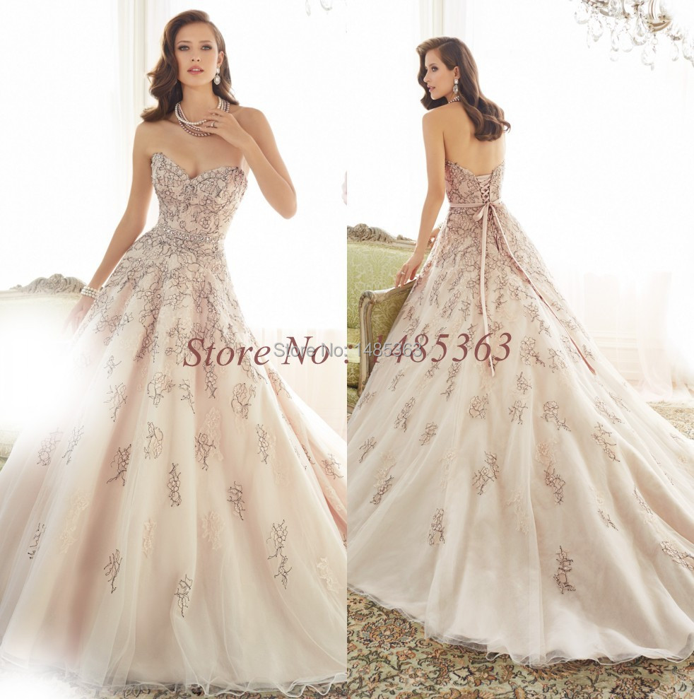 Crystal Design 2016 Wedding Dresses: Compare Prices On Pink Champagne- Online Shopping/Buy Low