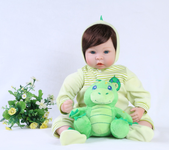 55cm Reborn Babe Doll Silicone Dolls Kids Toys Gift Baby Sleeping Accompany Toy Brinquedos Educational Nurse Tools Gentle Touch