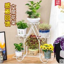 European-style iron art multi-layer green roo crane multi-functional solid wood flower shelf