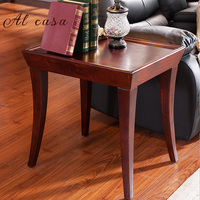 small coffee table solid wood tea desk living room furniture in traditional classic style end console table