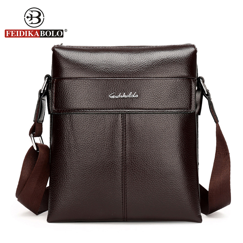 FEIDIKA BOLO Brand Bag Men Messenger Bags Crossbody for Men Shoulder Bags Business Mens Bag Man Shoulder Leather Handbag Satchel men and women bag genuine leather man crossbody shoulder handbag men business bags male messenger leather satchel for boys