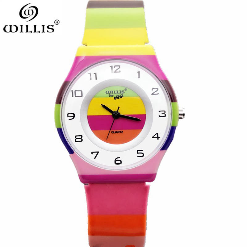 WILLIS Top Brand Watch Women Watches Ultra Thin Silicone strap rainbow Display Quartz watch Luxury Wristwatches Relogio Feminino brand julius women watches ultra thin leather strap watch band analog display quartz wristwatch luxury watches relogio feminino