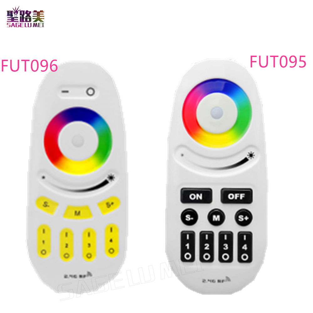 Mi Light 2.4G 4-Zone FUT095 FUT096 RGB RGBW LED Controller Button/Touch RF Wireless Remote for MiLight LED Bulb Strip lamp Light 2 4g rgb touch screen led remote controller mi light wireless wifi 3pcs 4 zone wireless rf controller for rgb led strip bulb