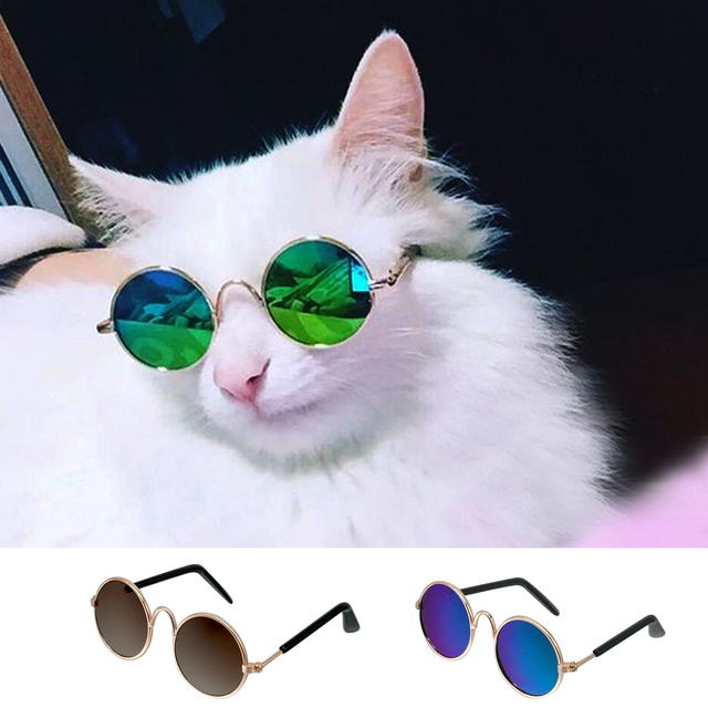 Fashion Cat Sunglasses Pet Accessories Summer Dogs Cats Glasses Grooming Black Green