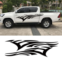 2Pcs free shipping side door speed up fire vinyl graphics decals for TOYOTA HILUX First Impressions