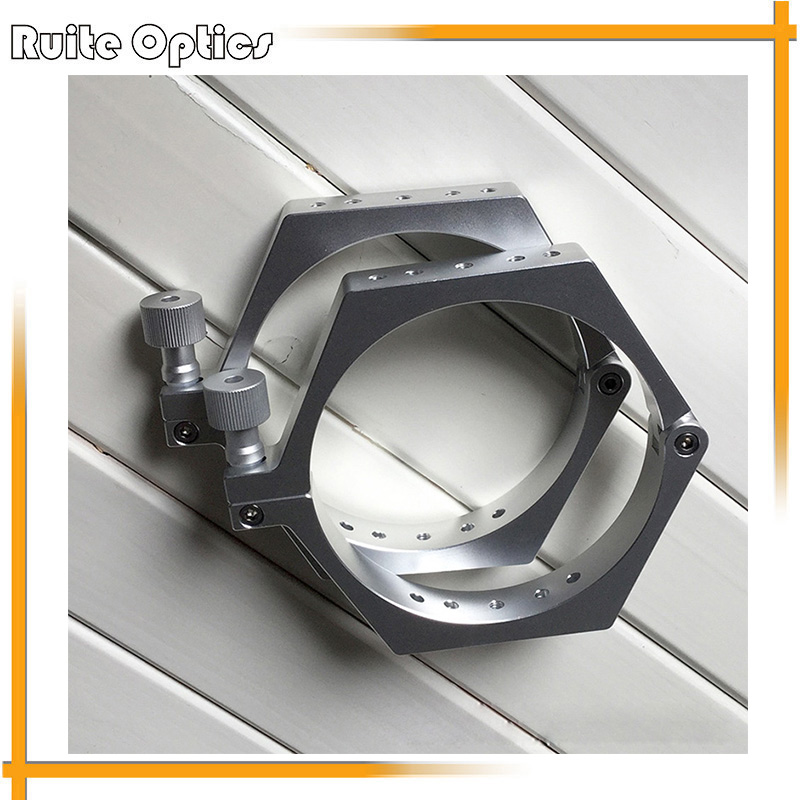 1 Pair of 100mm Diameter Aluminum Alloy Astronomical Telescope Clamp Ring For DIY Astronomical Telescope цена