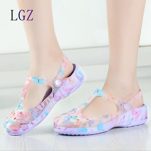 New Arrival 2016 Summer Women Clogs High Quality Multicolor Garden Shoes  Woman Beach Flat Sandals Famous a668f9809a7e