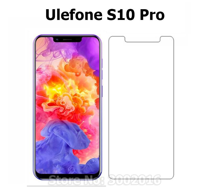 Kaca tempered untuk Ulefone S10 Pro pelindung layar, Film penjaga pelindung, Kasus penutup depan untuk Ulefone S10 Pro kaca, + Kit bersih>
