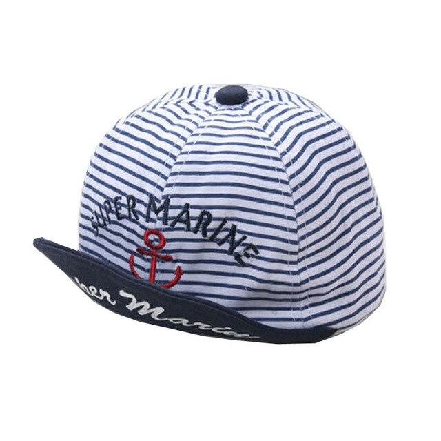 cad96ef0c70 Kids Summer Hats Letters Super Marine Printed Pinstripe Baseball Hat  Children Snapback Caps Hip Hop Boys