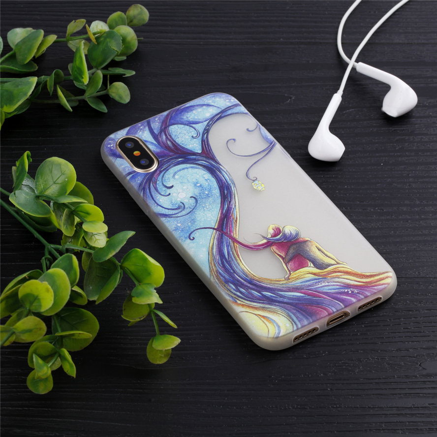 ZIHFONE Luminous Phone Cover Case For Apple iPhone X iPhone 10 iPhone Ten 5.8 Inch Housing Bag Back Shell For iPhone 10 Case